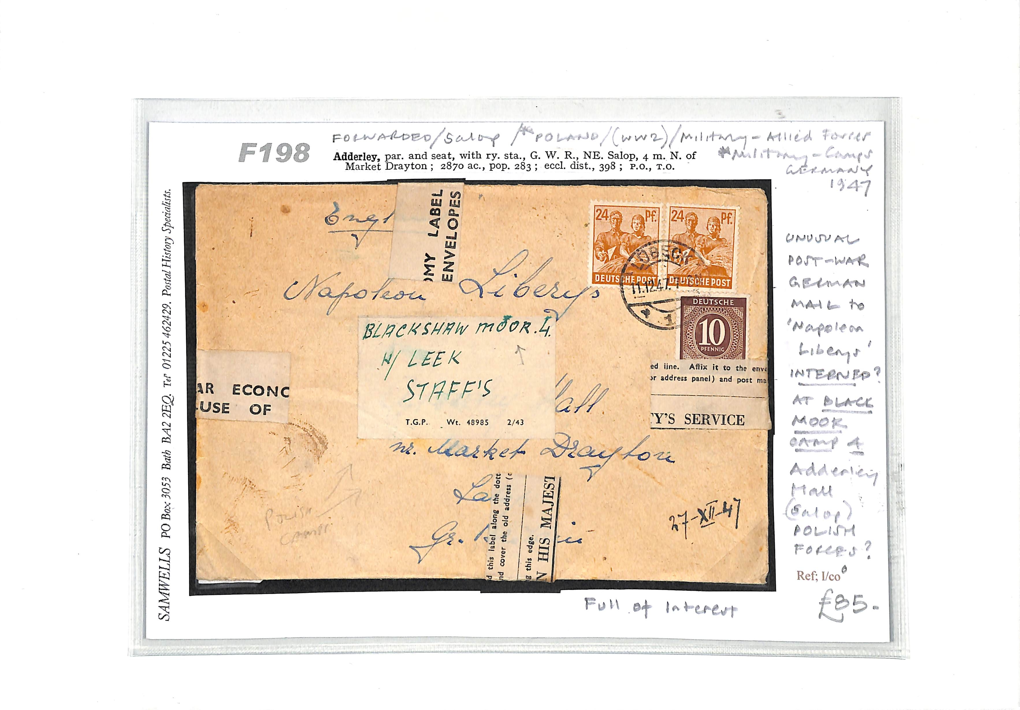Stamp Auction - Germany & Colonies - Postal History Sale
