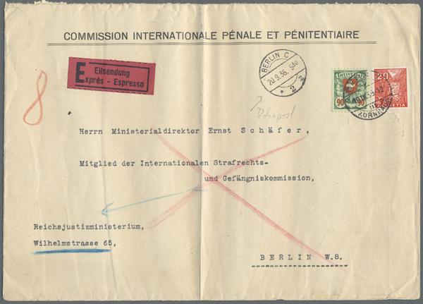 Gallen Briefmarken Herrlich Schweiz Herrlicher Lupo-brief Ab St Diverse Philatelie