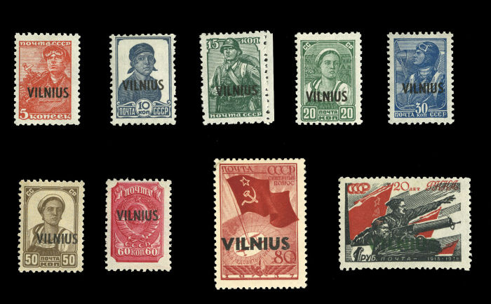 Stamp Auction - german world war ii occupation issues