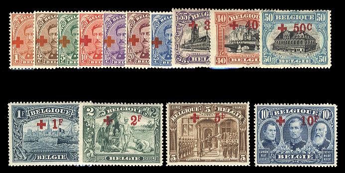 Lot 133 - belgium semi-postals -  Cherrystone Auctions United States & Worldwide Stamps