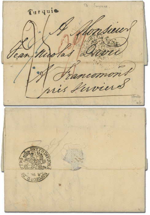 Lot 3407 - france (levant and colonies) france - levant postal history -  Collectio (Alexandre Galinos) Auction #76