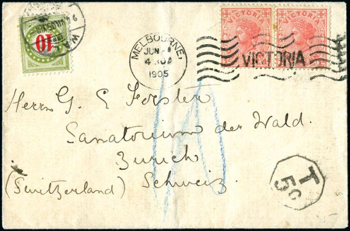 Stamp Auction Schweiz Nachportomarken Auslandsbriefe Geneva