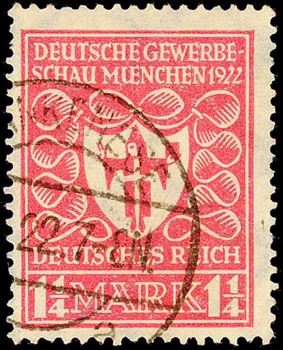 briefmarke deutsches reich 400 mark