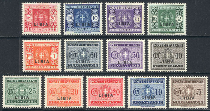 Lot 863 - libia postage due stamps -  Guillermo Jalil - Philatino Auction #102 - WORLDWIDE + ARGENTINA: good selection of lots for every taste
