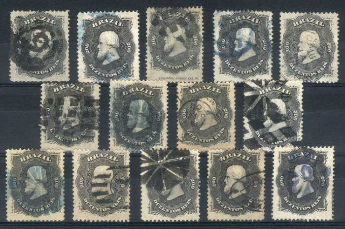 Lot 349 - brazil general issues -  Guillermo Jalil - Philatino Auction # 67 -  WORLDWIDE + ARGENTINA: General auction with thematic stamps, scarce sets, covers, lots and collections