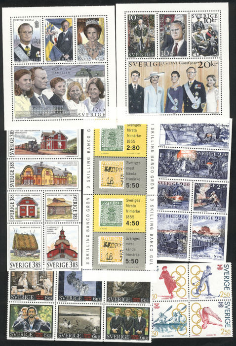 Lot 777 - sweden lots and collections -  Guillermo Jalil - Philatino Auction #75 - GENERAL AUCTION of worldwide stamps, covers and lots, and a nice selection of Argentina