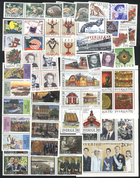 Lot 782 - sweden lots and collections -  Guillermo Jalil - Philatino Auction #75 - GENERAL AUCTION of worldwide stamps, covers and lots, and a nice selection of Argentina