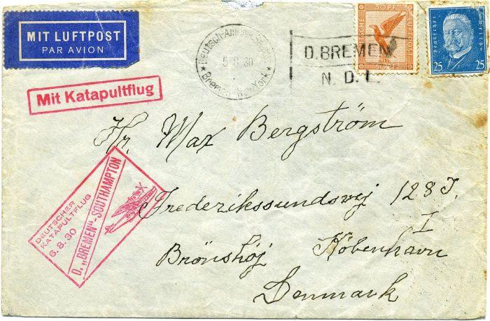brief mit briefmarke