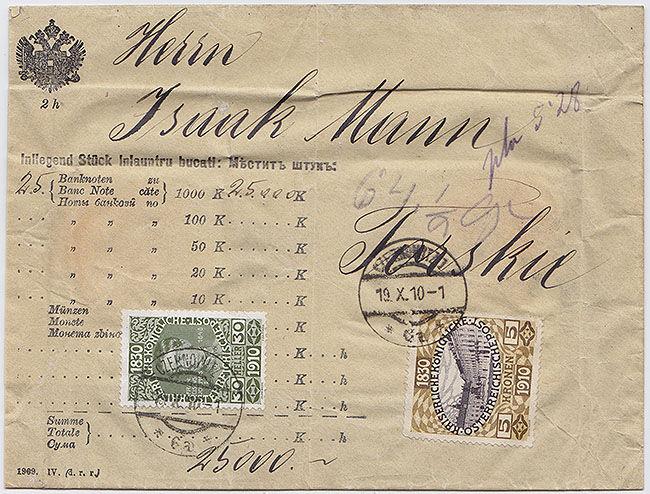 Stamp Auction - postal history of austria - hungary - poland