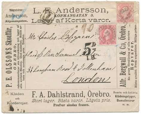 Lot 834 - sweden sweden -  Postiljonen AB International Auction # 204 - part II