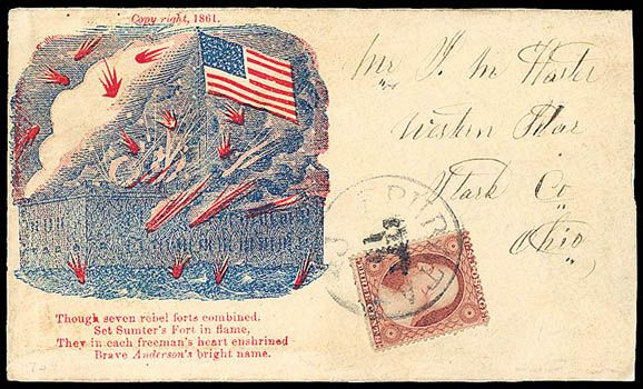 Stamp Auction - united states civil war postal history union