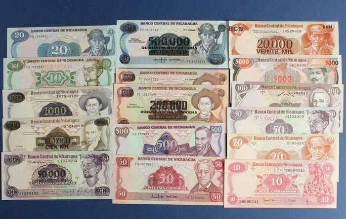 Coin Auction - world banknotes nicaragua - Public Auction