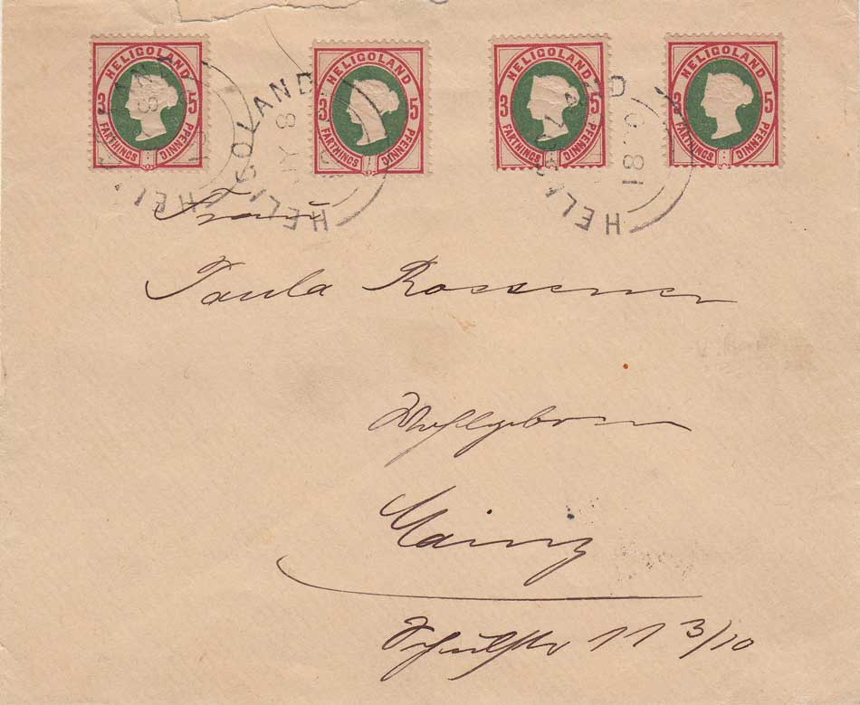 Lot 242 - heligoland  -  Stephan Welz & Co (Pty) Ltd Postage Stamps • Postal History • Banknotes • Coins & Medallions • Autographs • Mandela Memorabilia
