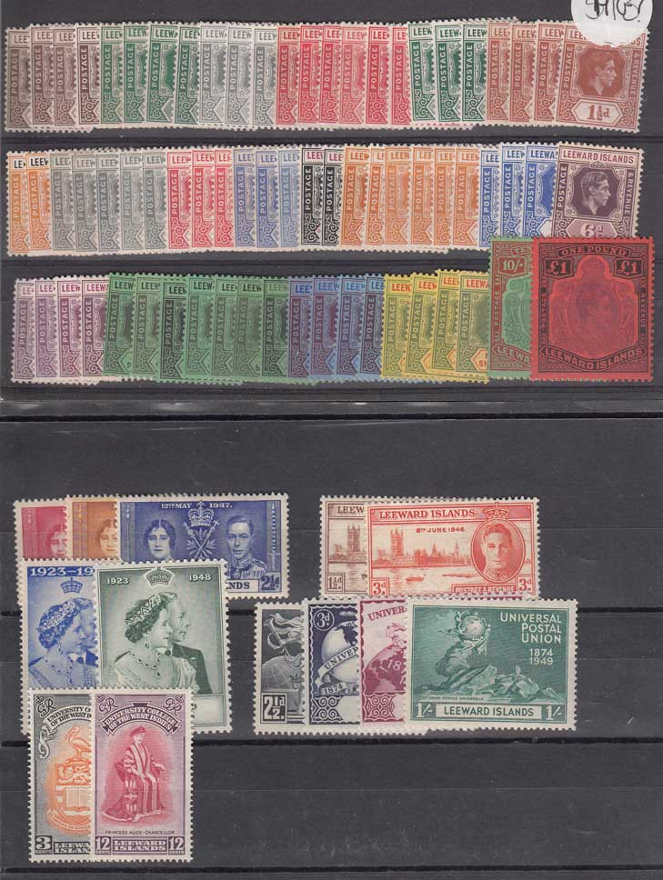 Lot 250 - leeward islands  -  Stephan Welz & Co (Pty) Ltd Postage Stamps • Postal History • Banknotes • Coins & Medallions • Autographs • Mandela Memorabilia