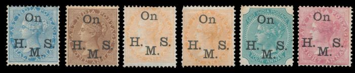 Lot 192 - india british india official and military stamps -  Todywalla auctions Stamp Auction No. 6