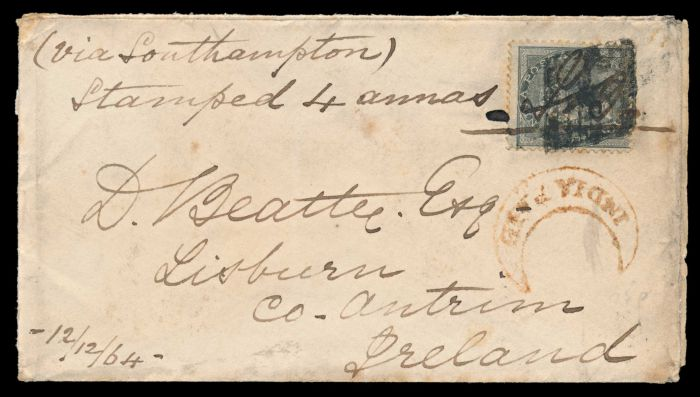 Lot 259 - india british india postal history and cancellations -  Todywalla auctions Stamp Auction No. 6