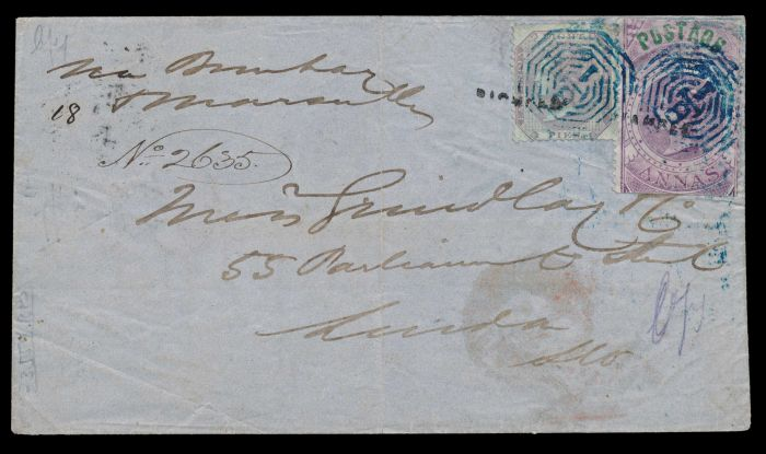 Lot 261 - india british india postal history and cancellations -  Todywalla auctions Stamp Auction No. 6