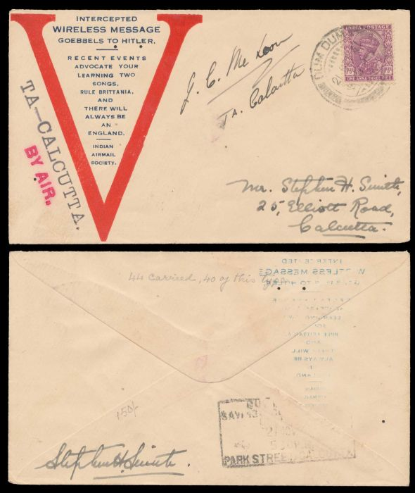 Lot 340 - india indian airmails -  Todywalla auctions Stamp Auction No. 6