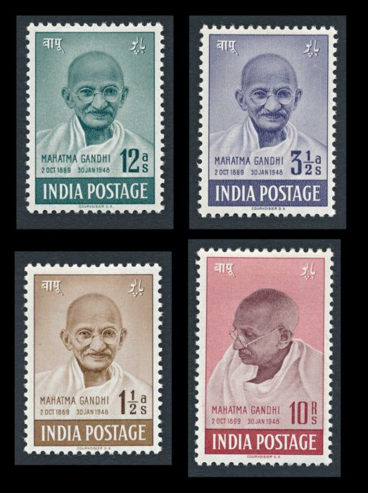 Lot 486 - india mahatma gandhi -  Todywalla auctions Stamp Auction No. 6
