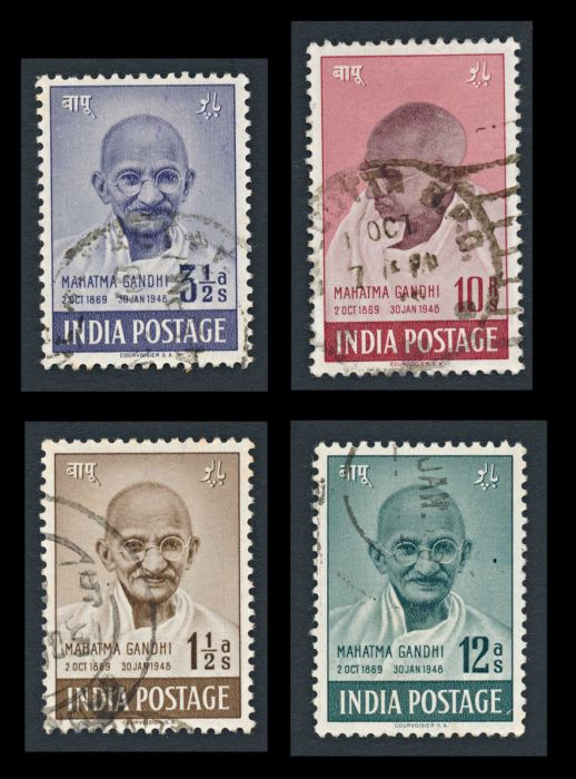 Lot 490 - india mahatma gandhi -  Todywalla auctions Stamp Auction No. 6