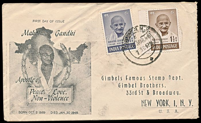Lot 501 - india mahatma gandhi -  Todywalla auctions Stamp Auction No. 6