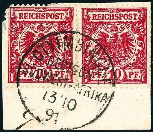 rosa begleitscheine von briefmarken