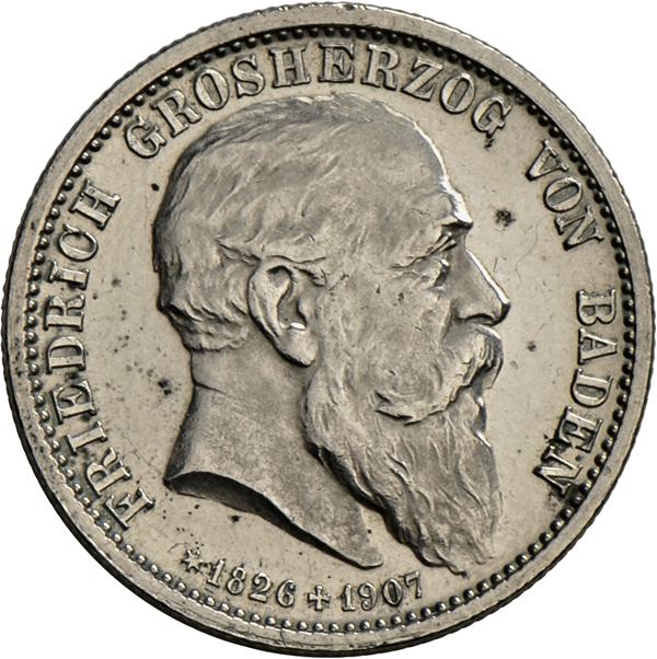 Coin Auction Münzen Deutschland Baden Umlaufmünzen 2 Mark Bis