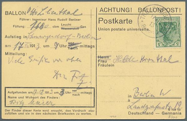 Stamp Auction Flugpost Zeppelin Schiffspost 33rd