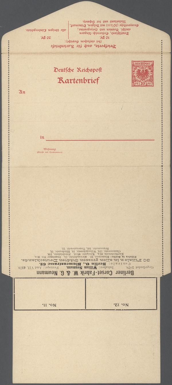 Stamp Auction Thematik Anzeigenganzsachen Advertising Postal
