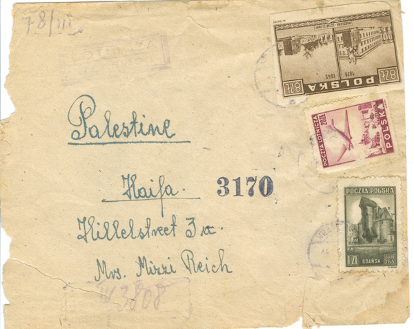 POSTAL HISTORY - FLIGHTS - MAIL TO PALESTINE - ETC  Stamp